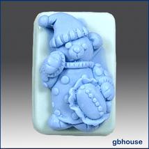 Silicone Soap Mold night-night Bear - $26.00