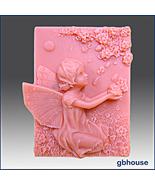 Silicone Soap Mold - Petulia, Fairy of Flower Petal - $28.00