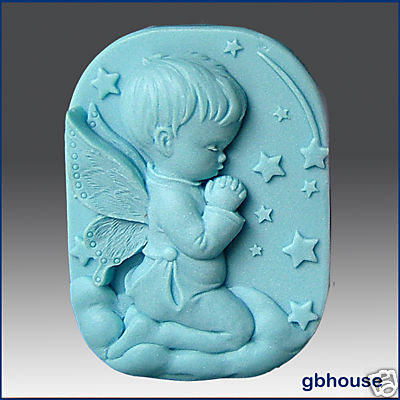 Silicone Soap Mold - Praying Angel  boy