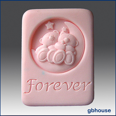 Bear with Me Forever – 2D Silicone Soap Mold