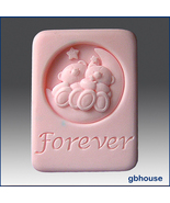 Bear with Me Forever – 2D Silicone Soap Mold - $26.00