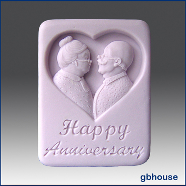 Happy Anniversary – 2D Silicone Soap Mold