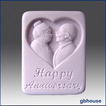 Happy Anniversary – 2D Silicone Soap Mold - $26.00