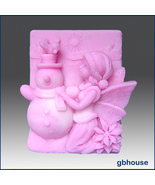2D Silicone Soap Mold – Frosty, Fairy of the Snowmen - $28.00