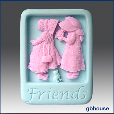 Friends - 2D Silicone Soap Mold
