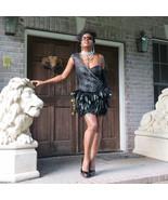 New Sold out designer BEBE Kardarshian Black One Shoulder Feather dress ... - $346.49