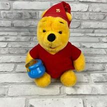 Mattel 1994 Winnie the Pooh Teddy Bear With Honey Pot Stuffed Animal Plu... - $8.82