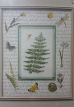 Leisure Arts Woodland Fern cross stitch kit also contains mat and golden charm - $19.95