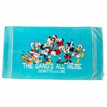 Disney Cruise Line Mickey Mouse Towel & Friends Beach Summer Pool Blue O... - $21.60