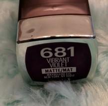 Maybelline Color Sensational Matte Lipstick 681 VIBRANT VIOLET New - $3.20