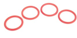 LOT OF 4 NEW FEDEGARI AUTOCLAVI SS-12MO-1-8 O-RINGS, SILICONE SIL.R 22 CAT 22