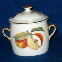 ROYAL WORCESTER EVESHAM  GOLD MARMALADE JAR WITH LID - $22.00