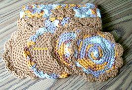 Cotton Crochet Dishcloth, Handmade Dishrag, Washcloth, Facecloth, Scrubb... - $22.00