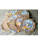 Cotton Crochet Dishcloth, Handmade Dishrag, Washcloth, Facecloth, Scrubb... - $22.00