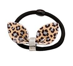 Set of 2 Adorable Hair Rope Ponytail Holders Hair Headwear,Ear,Grey Leopard image 2