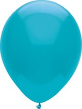"24 Latex Balloons 12"" When Inflated Solid Colors - Island Blue - $2.96"