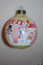 Mary Engelbreit Let It Snow Ball Ornament Hallmark 1994 - $11.95