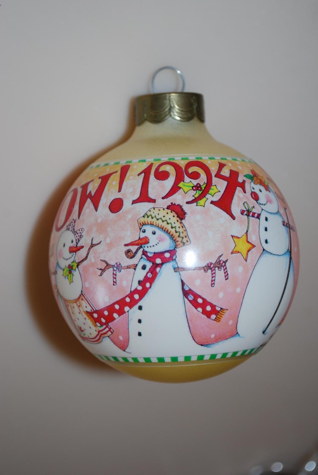Mary Engelbreit Let It Snow Ball Ornament Hallmark 1994