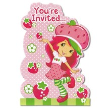 Strawberry Shortcake Save The Date Postcard Invitations 8 Count Party Su... - $5.20