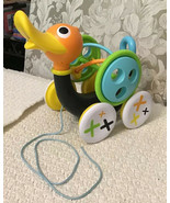 Yookidoo WHISTLING PULL ALONG DUCK 2-in-1 Toddler Toy with Bead Roller C... - $34.20