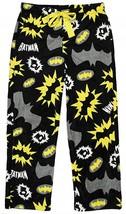 Dc Comics Batman Women's Junior's Black Plush Fleece Pajamas Pants New - $14.75