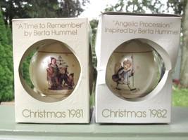 BERTA HUMMEL SCHMID CHRISTMAS ORNAMENT LOT OF 2 Vintage 1981 and 1982 NE... - $9.49