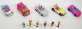 2006 Polly Pocket 5 Cars (Polly Wheels) 6 Dolls Mattel Toys - $22.00