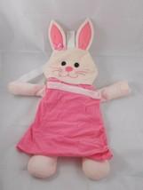"Mattel Pink Bunny Rabbit Plush Backpack Storage 20"" Tall 2000  - $5.95"