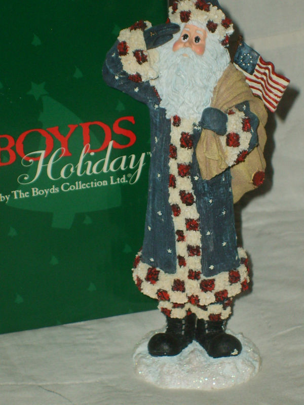 "Primary image for BOYDS COLLECTION LTD HOLIDAY SANTA FIGURE #28020 ""FRANKLIN"" 2E/1456 NIB MINT $25"