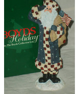 "BOYDS COLLECTION LTD HOLIDAY SANTA FIGURE #28020 ""FRANKLIN"" 2E/1456 NIB ... - $23.97"
