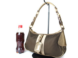 Authentic PRADA Nylon Canvas Khaki Shoulder Bag PS0082 - $139.00