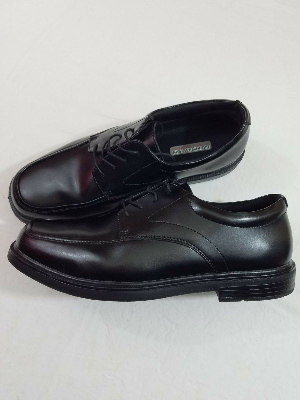 eeb9724d1ce1 ... Nunn Bush Mens Shoes Trenton Black Lace Up Oxford Size 12M ...