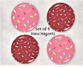 Sprinkles Large Glass Gem Magnet Set - GIFT BOXED - Kitchen / Office / L... - $7.95
