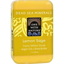 One With Nature Soap Bar Lemon Sage - $10.67