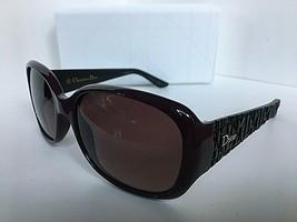 New Elegant Christian DIOR Frisson2 KEWXQ Violet Black Women's Sunglasses Italy - $299.99