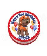 Paw Patrol Zuma **ROUND** edible cake image frosting sheet topper decora... - $7.80