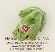 Hagen-Renaker Miniature Ceramic Frog Figurine Birthstone Prince 10 October image 3