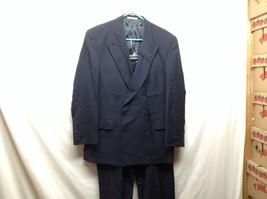 Joseph Abboud Black Wool-blend Suit Sz 42R