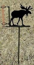 Moose Rain Guage - Rustic Metal Wildlife Cabin Lodge Garden Yard Decor - $38.00