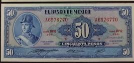 Mexico Ignacio De Allende 50  Pesoss Uncirculated Notes - $12.95