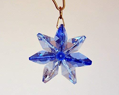 J'Leen Light Sapphire Sapphire Colored Crystal Daisy Suncatcher