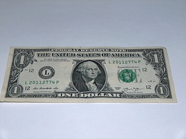 2013 $1 Dollar Bill US Bank Note Date Year Birthday 2011 2774 Fancy Mone... - $13.78
