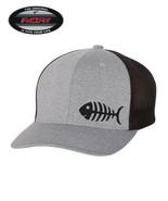FISH SKELETON FISHING  Trucker Cap FLEXFIT HAT *FREE SHIPPING in BOX* - $19.99
