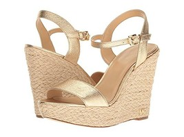 MICHAEL Michael Kors Jill Metallic Napa Espadrille Wedge Sandals Pale Gold - $99.99
