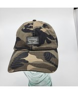 Vintage Levi Strauss Camo Snapback Trucker Baseball Hat with Stamp Patch  - $16.00