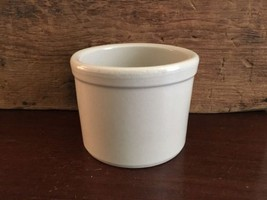 R R P Pottery Company Roseville Ohio 1 Pint Low Stoneware Crock Jar Lot 56 - $29.99