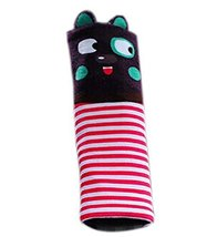 Safe Car Soft Seat Belt Strap Cover, Lovely Catoon Cat, Purple