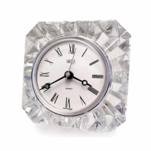 MIKASA Faceted Austrian Lead Crystal Quartz Clock - $32.99
