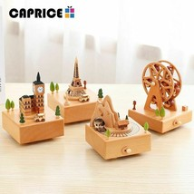 Wood Music Box Wooden Little Train Car Gift Christmas Birthday  - $38.99