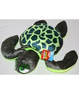 "Rhode Island Novelty Plush Stuffed TURTLE 15"" Cuddle Crew Lime Green Soft Toy - $13.52"